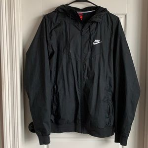 Nike all black windbreaker Medium